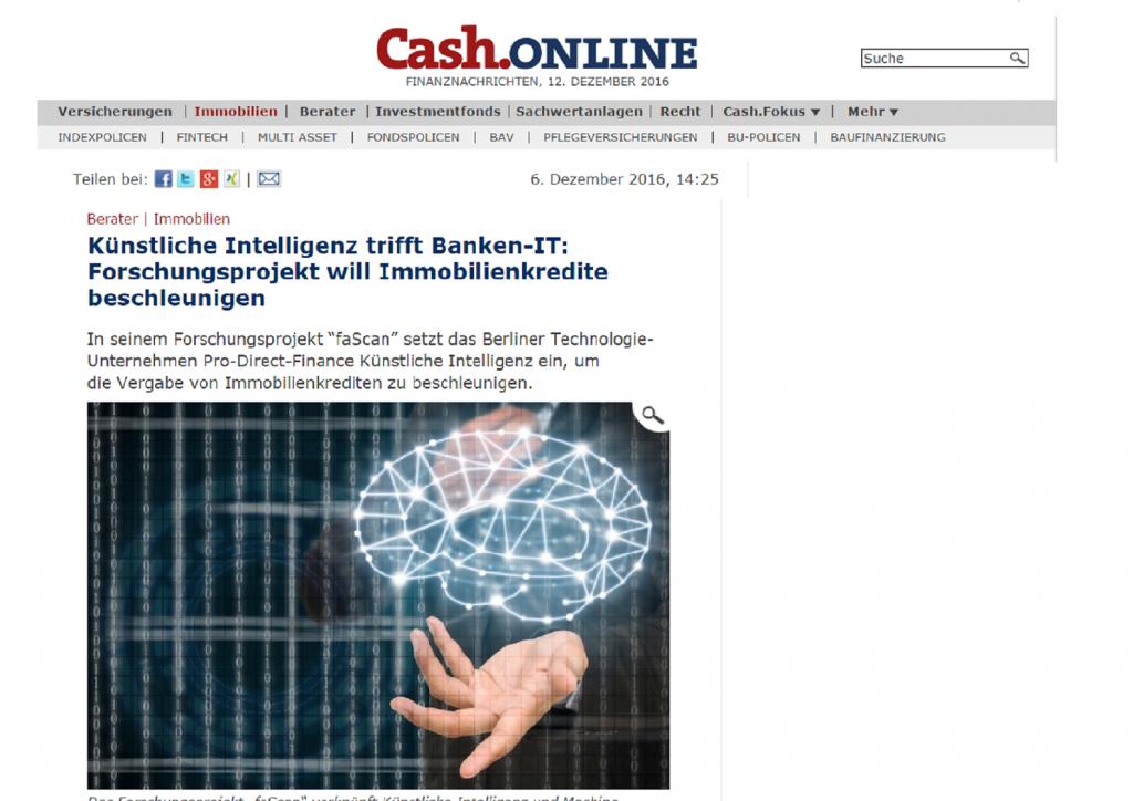 Cash.Online Artikel zu faScan