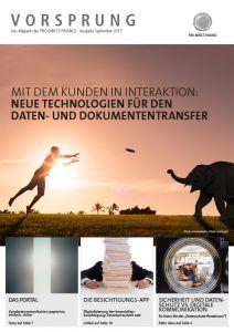 Vorsprung Magazin Ausgabe September 2017 Digitaler Dokumententransfer im Bankensektor